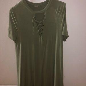 Dresses & Skirts - Green T-shirt dress